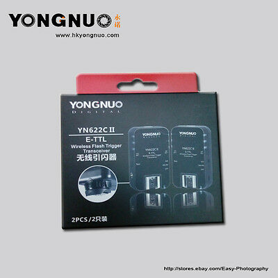 Upgraded Yongnuo YN-622C II Wireless TTL Flash Trigger f Canon 5DIII 5DII 7D 6D