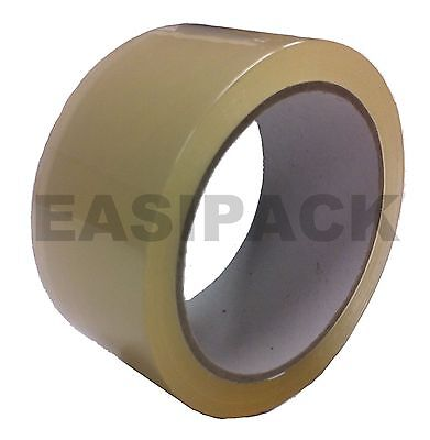 Strong CLEAR 48mm X 66M (2 Inch) Sellotape Packaging Packing Transparent Tape