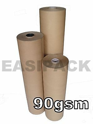 Heavy Duty BROWN WRAPPING PAPER Kraft Rolls (90gsm) for Packing Posting Parcels