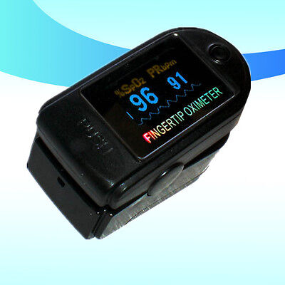 CE OLED Fingertip Pulse Oximeter - Spo2 Monitor  6 Colors blood oxygen monitor