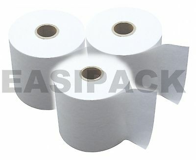 100 x (57x40mm) Thermal Till Rolls Credit Card PDQ paper