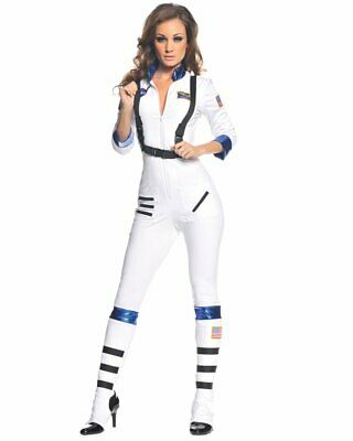 CL488 Blast Off Astronaut White Space Girl Jumpsuit Bodysuit Costume Suit Outfit