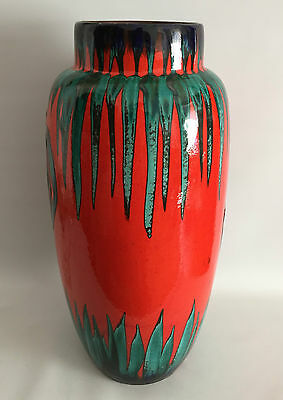 XL FAT LAVA Floor Vase 553-52cm RARE Rooster Design Scheurich West Germany
