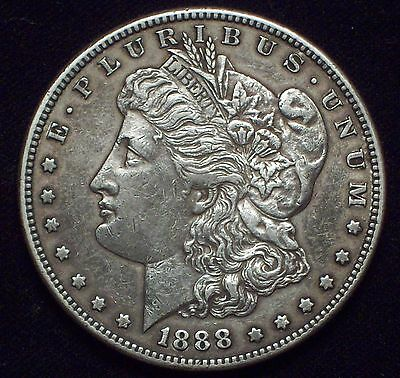 1888 S Morgan Dollar SILVER Semi-KEY High Grade Authentic XF+/AU Detailing Coin