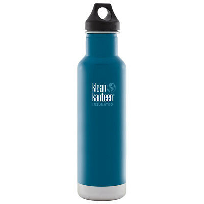 Klean Kanteen 592ml Classic Vacuum Insulated Water Bottle Loop Cap Winter Lake