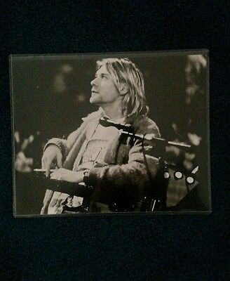 Rare Black and white Kurt Cobain/Nirvana pic unplugged in plastic! 10x8 1/2 in.!