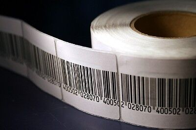 1,000 Barcode 4x4cm size, RF Labels 8.2MHz Compatible w/ Checkpoint® Systems