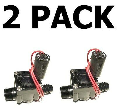 "2 Pack Hunter PGV-100MB 1"" NPT x Barb Sprinkler Irrigation Valve"