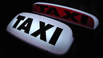 "Taxi Cab Roof Sign 18"" White *  Led's *  Aerodynamic Magnetic Taximeter Topsign"