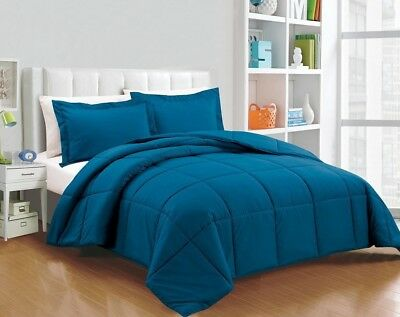 Chezmoi Collection Down Alternative Comforter 2-Piece Twin Set, Teal