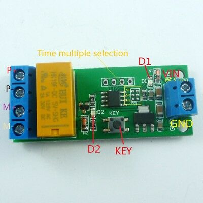 dc 12v digital relay cycle delay timer timing switch led motor 5v~12v dc motor reverse polarity cyclic timer switch time repeater delay relay