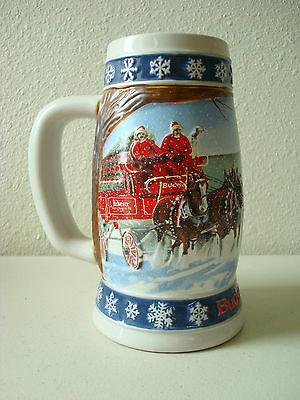 """BUDWEISER 1995 Holiday stein """"lighting the way home"""""""