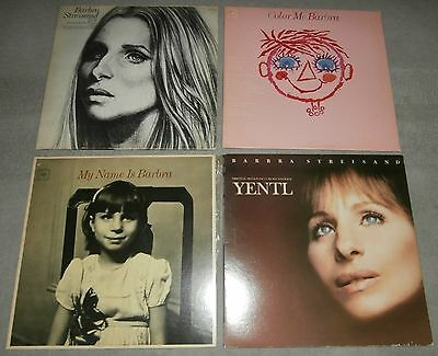 Lot of 4 Barbra Streisand LS Records My Name is Barbra/Yentl/Color Me/Live
