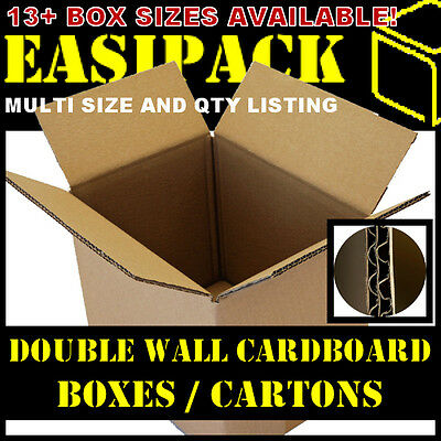 DOUBLE WALL - Strong Removal Cardboard Boxes - Various Sizes - *Multi Listing*