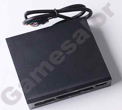 "3.5"" All In 1 Internal Card Reader USB 2.0 9 Pin Flash Memory Black SD MS CF TF"