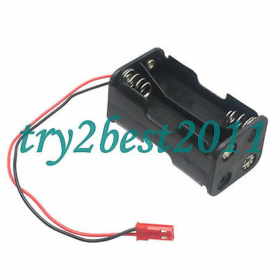 RC Battery Holder Case Box Pack 4 AA JST 2 Pin