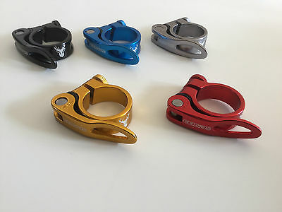 New Quality Cervus Alloy Bicycle Quick Release Seatpost Clamp 34.9mm 31.8mm