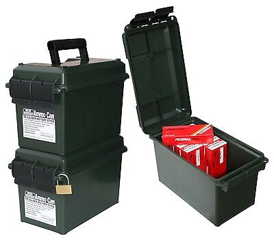 New Authentic MTM Forest Green 50 Caliber Advanced Ammo Storage Can AC50C11