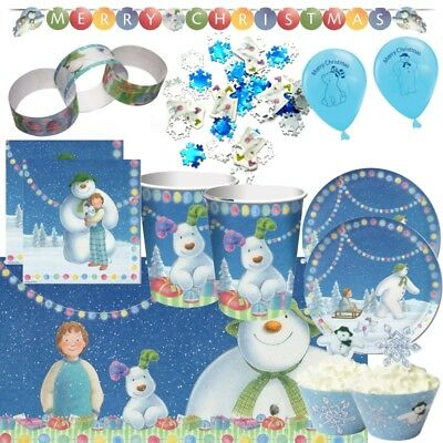 Snowman and the Snowdog Christmas Party Tableware, Decorations & Balloons