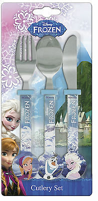 Frozen | Anna | Elsa | Olaf Snowflake 3pc Cutlery Set | Knife, Fork & Spoon