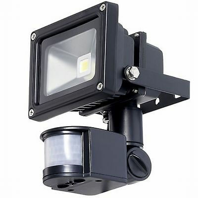 10W LED Low Energy Outdoor Security Flood Light PIR MOTION Sensor Cool ice White