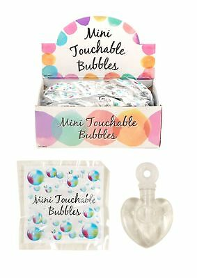 48 Mini Touchable Bubbles Wedding Favour Decoration Party Bag Filler Hearts