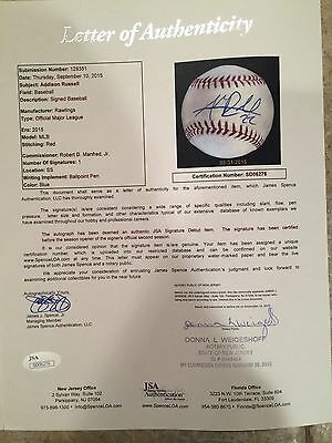 Chicago Cubs Phenom Addison Russell Signed Mlb Debut Baseball-Rare  Jsa-Only 1