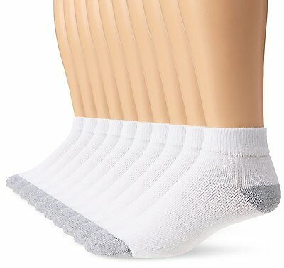 New 12 Pairs Ankle/Quarter Crew Mens Socks Cotton low cut 10-13 Sport White LOT