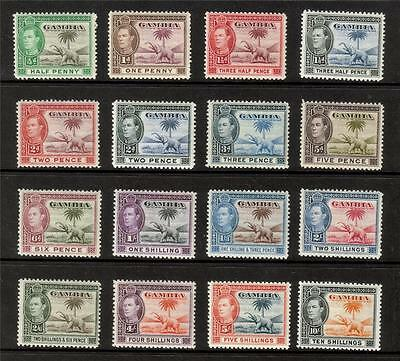Gambia Mnh 1938 Kgvi Sg150-161 Complete Set Of 16