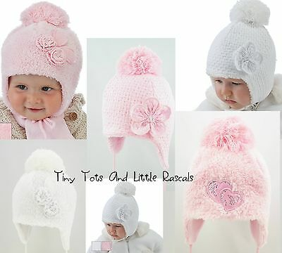 Baby Girls Infant Toddler Winter Hat Christening Occasion Baptism Size 0-4 years