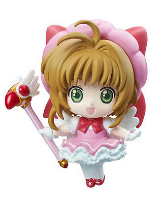Card Captor Sakura Pink Dress Petit Chara Land Trading Figure NEW