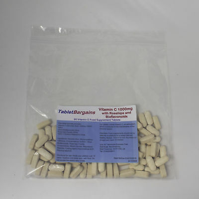 Tablet Bargains - Vitamin C 1000mg with Rosehip & Bioflavonoids - 90 Tablets
