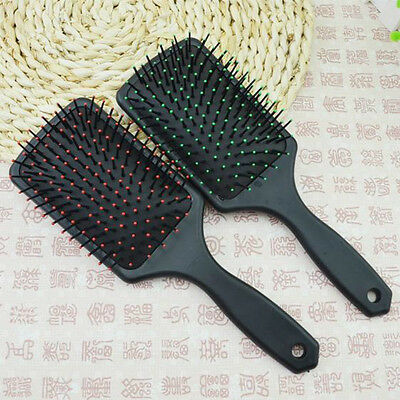 Professional Scalp Hairbrush Comb Paddle Cushion Hair Care Massage Brush Black