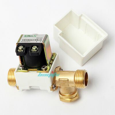 "12V DC Electric Solenoid Valve Water Air Outside 1/2"" Brass Normally Closed N/C"