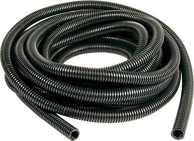 Black Engine Dressing Conduit 10mm x 10M, SPLIT LOOM, WIRING CONDUIT, CABLE TIDY