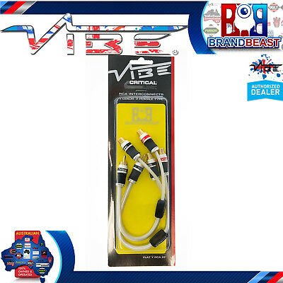 Vibe Premium Flat Y Connector Adapter Cable 2 Females 1 Male Rca 2f 1m Conection