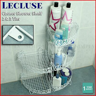 Shower Corner Shelf Caddy Shelves Organiser Bath Storage Rack Bathroom Metal