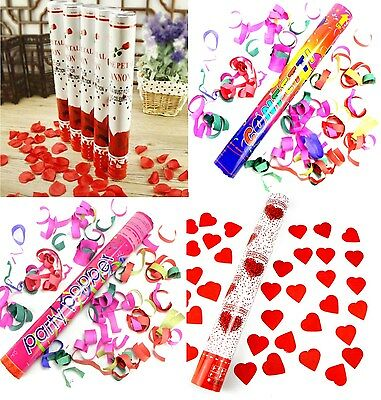 10 Konfetti Kanone Shooter Party Popper SET  Herz Rosen Hochzeit Konfettibombe