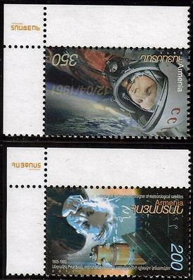 Armenia 2011 50Th Anv Of The First Manned Space Flight Set Of 2