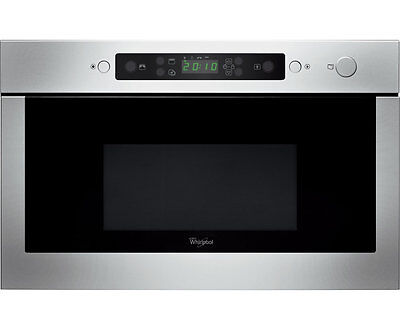 New Whirlpool Absolute AMW438IX   Built In 22L Microwave With Grill LED Display