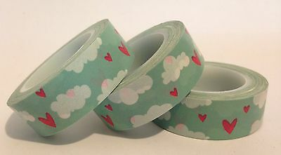 Washi Tape Love In The Clouds 15Mm Wide X 10Mtr Scrap Plan Craft Wrap Mail Art
