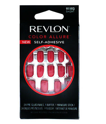 Revlon Color Allure False Nail Self Adhesive Short Nails Passion Colour 91193