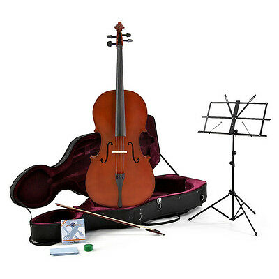 New 3/4 Size Cello + Beginner Pack by Gear4music