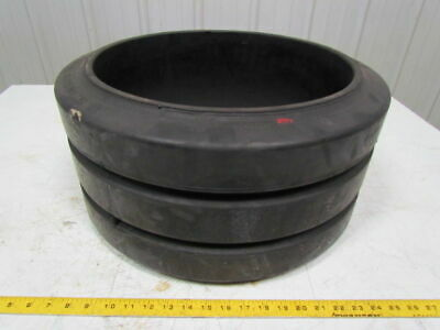 """US Industrial 20x10x16"""" Press On Double Groove Solid Rubber Forklift Tire Wheel"""