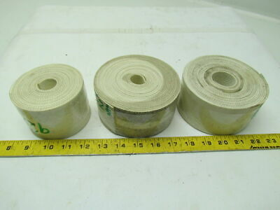 2 Ply White Inverted Pyramid Nylon Backed Conveyor Belt 0.092 Thick Lot of 3