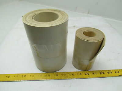 "2 ply White Smooth Top Conveyor Belt 0.070"" Thick Lot of 2 Rolls"