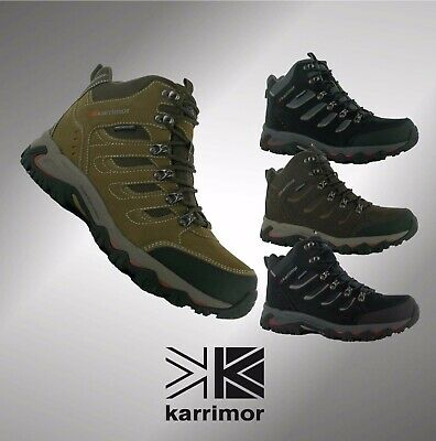 New Mens Karrimor Waterproof Breathable Dales Mid Walking Suede Boots Size 7-12