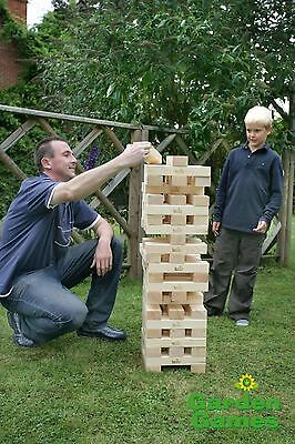 Super Giant Wooden Jenga Hi Tower 1.5M Garden Party Game New