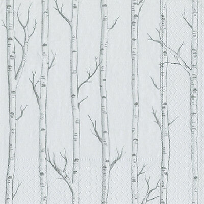 Birch silver birch trees Caspari paper table lunch napkins 20 in pack