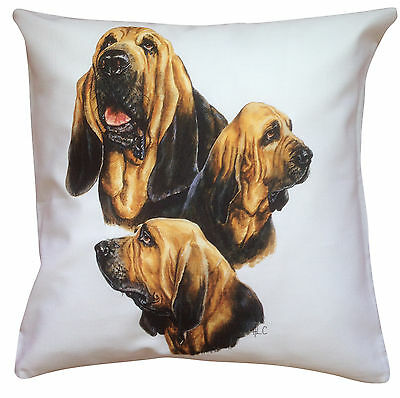 Bloodhound Group Breed of Dog Cotton Cushion Cover - Perfect Gift